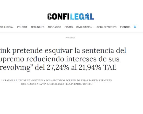 Entrevista en Confilegal sobre usura en contratos de Wizink